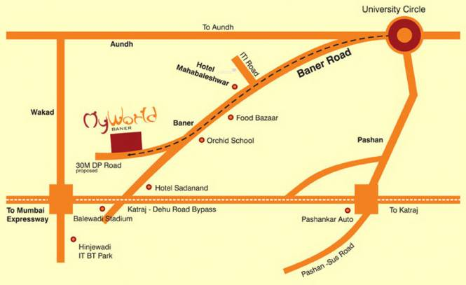 Rachana My World Location Plan