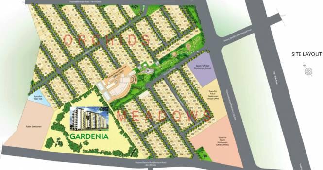 Indu Fortune Fields Villas Layout Plan