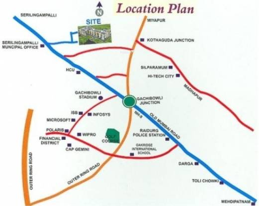 Maruthi Sri Maaruthi Nivas Location Plan