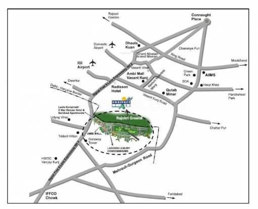 Ambience Lagoon Location Plan