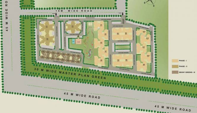 Sare Ebony Greens Site Plan