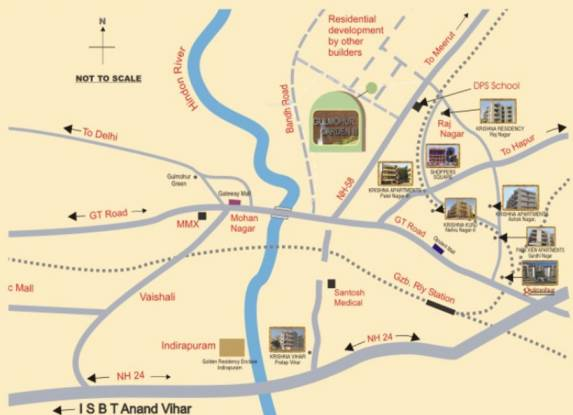 SVP Gulmohur Garden Location Plan