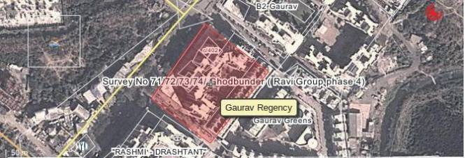 Ravi Gaurav Regency Location Plan