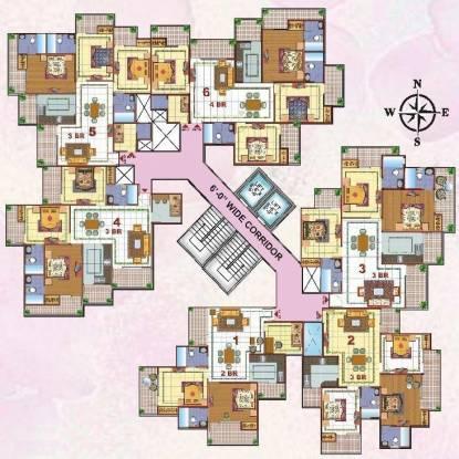 Skytech Merion Residency II Cluster Plan