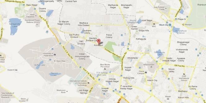 BR Hemadurga Prestige Location Plan