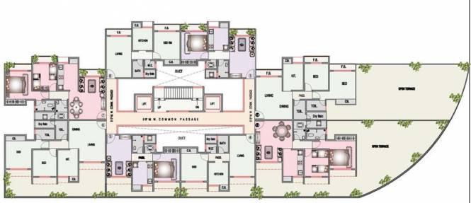 Kavya Residency Cluster Plan