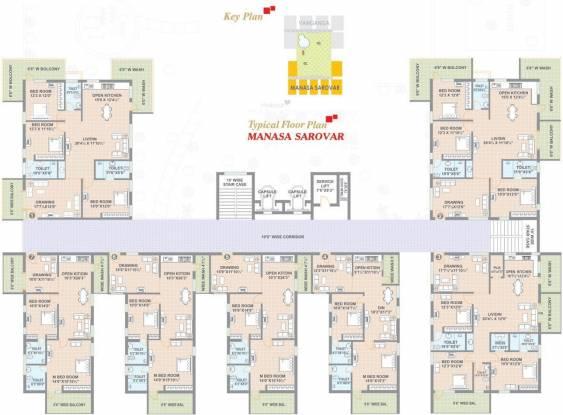 Sree Hima Sai Lake View Towers Cluster Plan