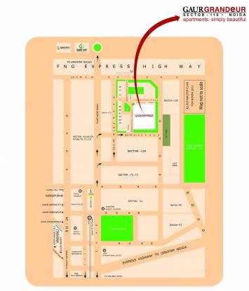 Gaursons Gaur Grandeur Location Plan