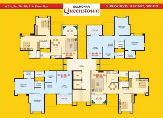 Gulmohar Queenstown Cluster Plan
