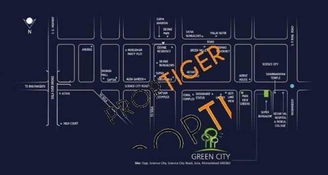 Green Green City Sola Road Location Plan