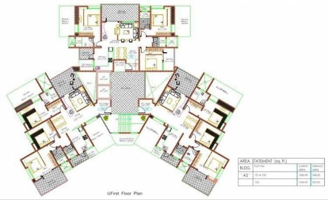 Bhujbal Damodar Residency Cluster Plan
