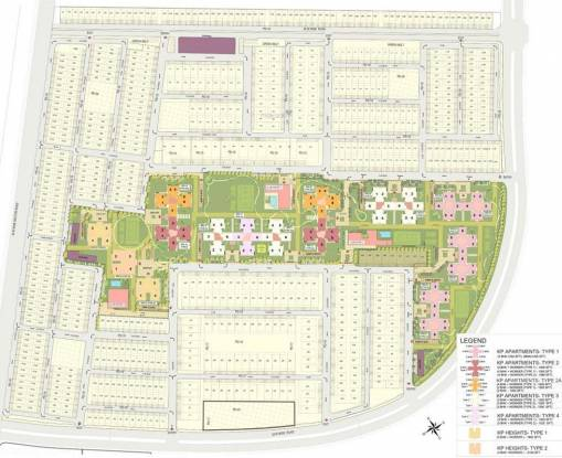 Jaypee Kensington Park Apartments Site Plan
