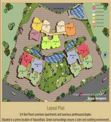 Ajnara Pride Site Plan