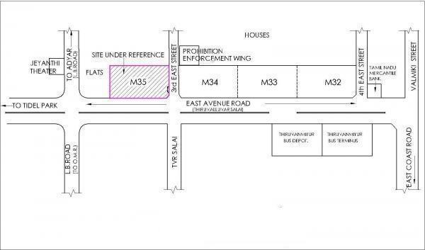 Ramaniyam Mahalakshmi M35 Location Plan