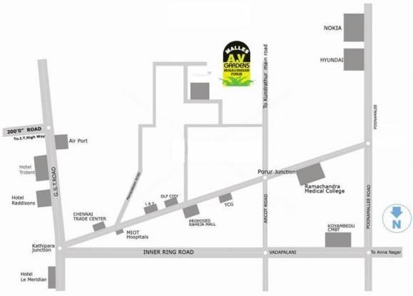 Malles AV Gardens Location Plan
