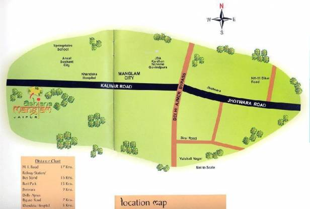 Ashiana Ashiana Manglam Location Plan