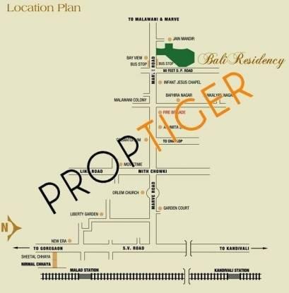Bali Residency Location Plan