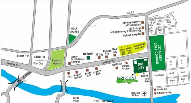 Omaxe NRI City Location Plan