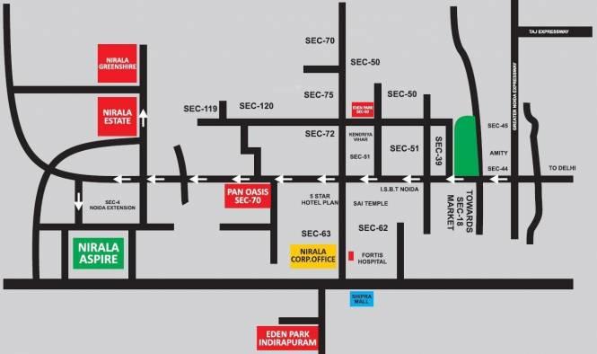 Nirala Estate Location Plan