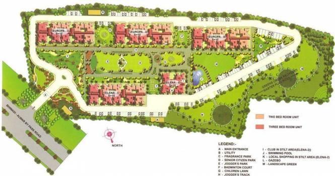 Kajaria Greens Layout Plan