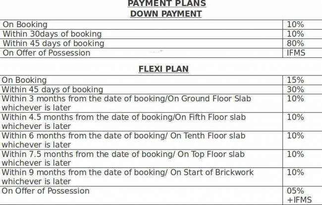 Paramount Mapple Payment Plan
