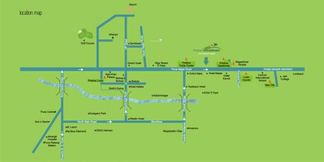 Pristine Pristine Meadows Location Plan