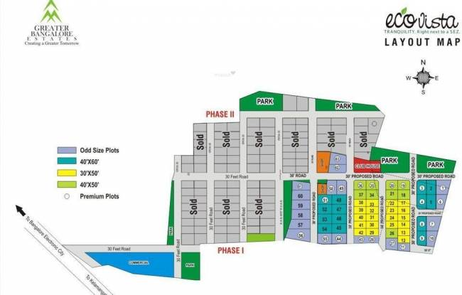 Greater Eco Vista Layout Plan