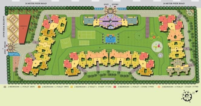Anthem French Apartments Layout Plan
