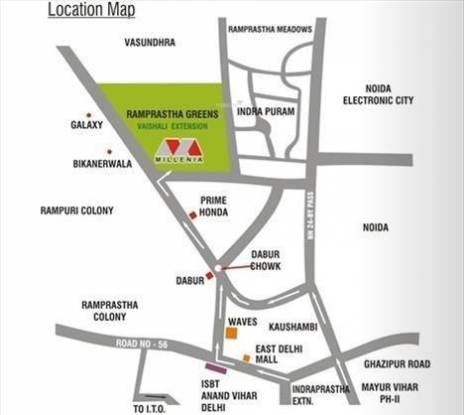 Ramprastha Pearl Heights Location Plan