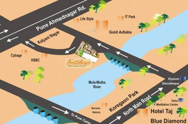 Raviraj Fortaleza Location Plan