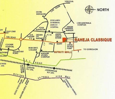 Raheja Classique Location Plan
