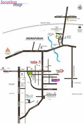 Prateek Wisteria Location Plan