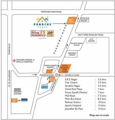 Omaxe Panache Homes Galaxy Location Plan