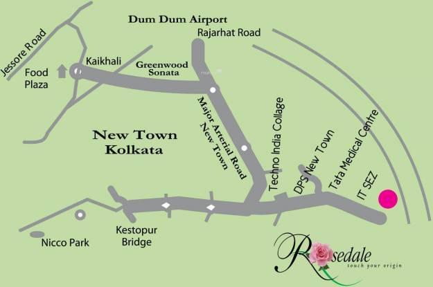 Shrachi Rosedale Garden Location Plan