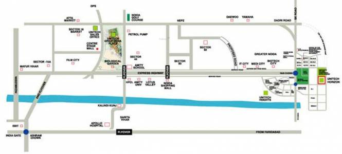 Unitech Horizon Location Plan