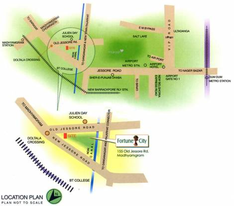 Fortune Fortune City Location Plan
