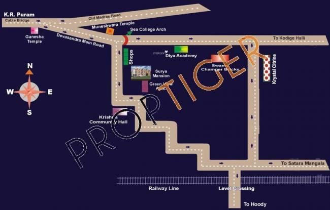 Shree Surya Mansion Location Plan