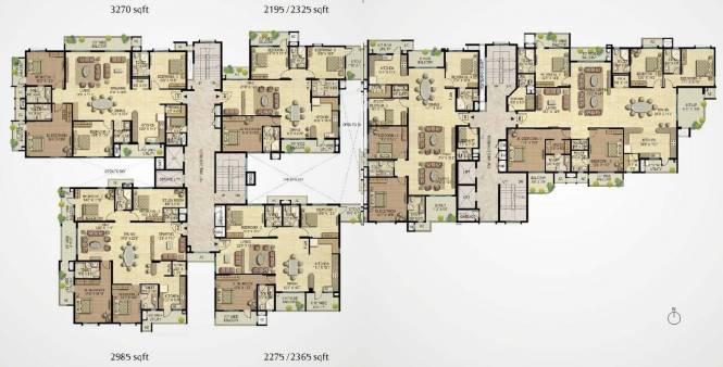Raheja Quiescent Heights Cluster Plan