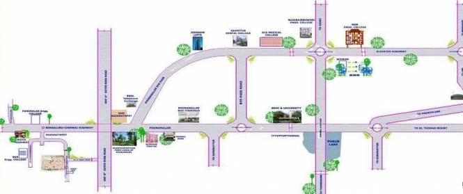 Himabinduinfra Ishwaryam Location Plan