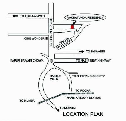 Vakratunda Residency Location Plan