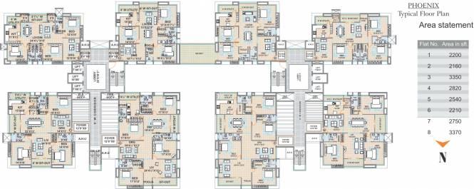 Meenakshi Sky Lounge Cluster Plan