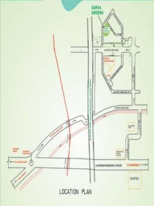 Raj Surya Greens Appartment Location Plan