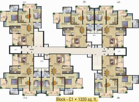 Supertech Livingston Cluster Plan