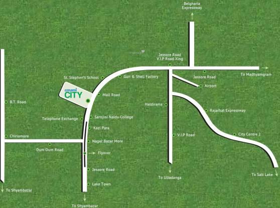 Emami City Location Plan