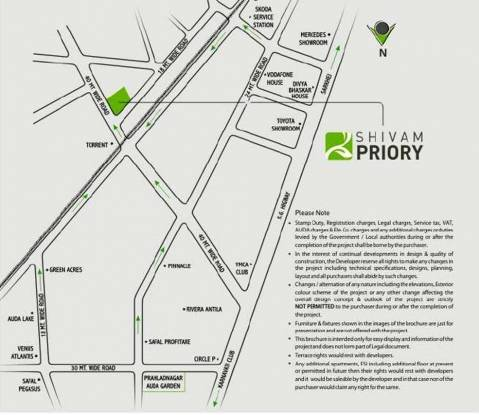 Shivam Priory Location Plan
