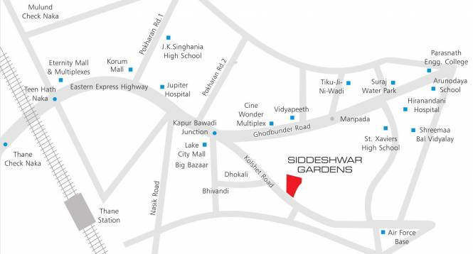 Shree Siddeshwar Gardens Location Plan