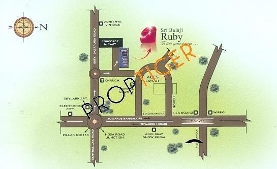 Reputed Sri Balaji Ruby Location Plan