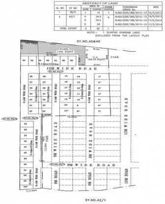 Peninsula Pine woods Layout Plan