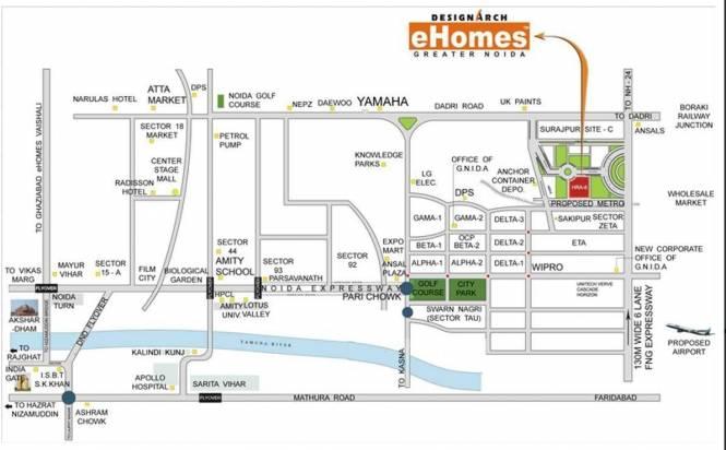 Dasnac Designarch e Homes Location Plan
