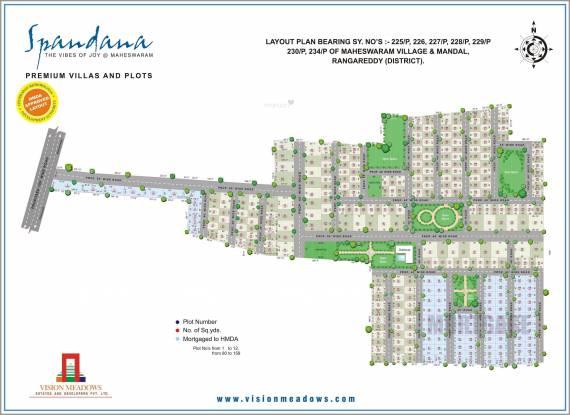 Vision Spandana Layout Plan